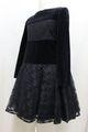 ◆送料お得プラン商品◆(G-130-14)メゾピアノブラックドレス130cm