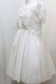 ◆送料お得プラン商品◆(G-130-6)Aat Letter白のドレス130cm