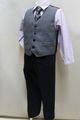 (B-110-18)ロング丈パンツのベストスーツ