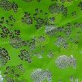 予約限定:文様絹 銀箔:4 薄緑