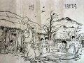 文字&絵 韓紙 No10