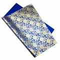 予約限定:紫陽花文様絹 金箔:3 青