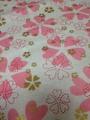 ハート花柄 ピンク系