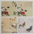 予約限定:胡蝶蘭&鳥図 4種-ジョン