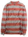 HENRY NECK STRIPED WOOL SHIRTS
