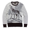 HOWLINWOLF CABLE KNIT SWEATER