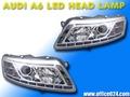 アウディ A6 プロジェクター LED ヘッドライト 04- 4F BK