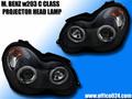 ベンツ C W203 CCFLイカリング ヘッドライト AMG ブラバス ブラック