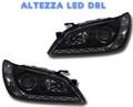 アルテッツァ LED DRL デイライト イカリング ヘッドライト BK