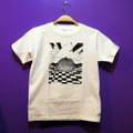 &quot;oiltank&quot; Kid's T-Shirts [white x Black / size : 150]