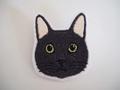 ブローチ(黒猫・白黒ハチワレ)