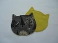 コースター・ネコ(森と猫)