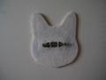 ブローチ(白猫)
