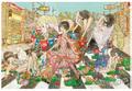 「一角馬と女の子」ポストカード