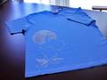 【うたかたり】月うさぎTシャツ:ブルー