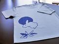 【うたかたり】月うさぎTシャツ:グレー