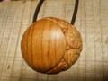 月食☽木彫りヘアゴム