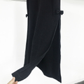 black long skirt with ribbon