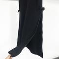 black long skirt with ribbon