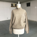 grown beige high neck knit with pocket