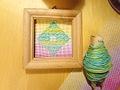 虹糸×1つ花っこA こぎん刺しプチフレーム♪送料無料♪