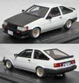 C43046 トヨタ カローラ レビン 1983(ホワイト/カーボン)*スポーツカスタム仕様/エイトスポークホイール装着