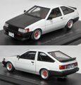 C43047 トヨタ カローラ レビン 1983(ホワイト/カーボン)*スポーツカスタム仕様/デルタスポークホイール装着