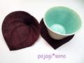 【完成品】葉っぱのコースター(2個組)■あずき色