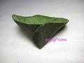 【完成品】葉っぱのコースター(2個組)■抹茶