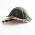 子供帽子 リバーシブル(オリーブ)