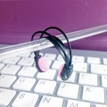 1/12スケール ヘッドフォン製作キットCタイプ(黒×ピンク)