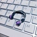 ★★完成品限定色 1/12スケール ヘッドフォン(紫×黒)