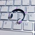 ★★完成品限定 1/12 ネコミミヘッドフォン(白×紫)