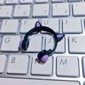 ★★完成品限定 1/12 ネコミミヘッドフォン(黒×紫)