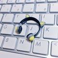 ★★完成品限定 1/12 ネコミミヘッドフォン(グレー×黄色)