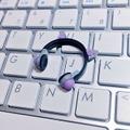 ★★完成品限定 1/12 ネコミミヘッドフォン(グレー×紫)