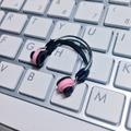 ★★完成品限定色  1/12スケール ヘッドフォン(ピンク×黒)
