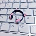 ★★完成品限定 1/12 ネコミミヘッドフォン(ピンク×グレー)