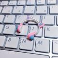 ★★完成品限定 1/12 ネコミミヘッドフォン(ピンク×水色)