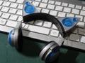 1/3スケール ネコミミヘッドフォン(シルバー×青)