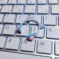 ★★完成品限定 1/12 ネコミミヘッドフォン(水色×ピンク)