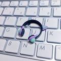 ★★完成品限定 1/12 ネコミミヘッドフォン(紫×緑)