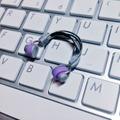 ★★完成品限定色  1/12スケール ヘッドフォン(紫×グレー)