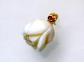 白サンゴ バラのペンダントG1035