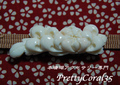 白サンゴ 乱菊の帯留111