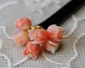 ピンクサンゴ 7つのミニバラかんざし