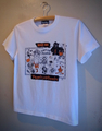 BIKER INK - S/S T-shirt (WHITE/black x orange print)