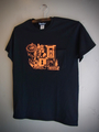 LOVELESS - S/S T-shirt (BLACK/neon orange print)