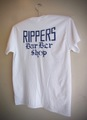 RIPPERS CLASSIC - S/S T-shirt (White/Navy print)