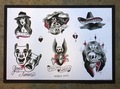 PW - TATTOO FLASH POSTER drawing by Jason Mcafee